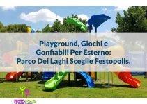 playground uso esterno gonfiabili parco dei laghi
