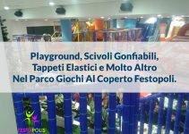 parco giochi al coperto Festopoli. Playground da interno, scivoli e gonfiabili