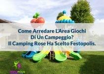area giochi campeggio playground altalena Camping Rose