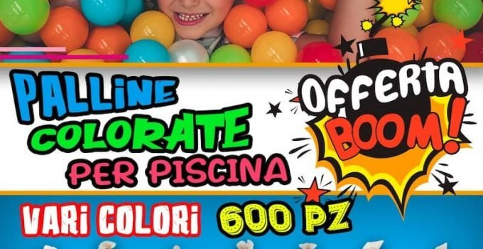 palline colorate per piscina playground offerta
