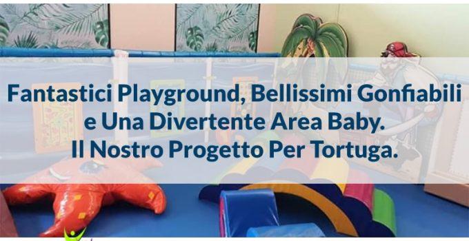 playground area baby gonfiabili tortuga