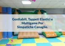 gonfiabili tappeti elastici multigame simpatiche canaglie