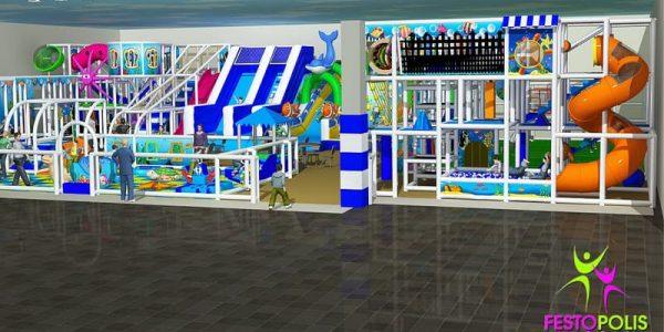 progettazione parco giochi al coperto blu park 01