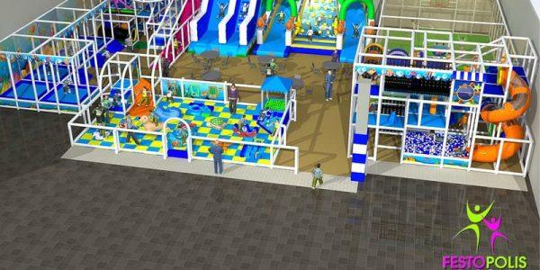 progettazione parco giochi al coperto blu park 02