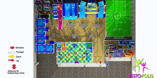 progettazione parco giochi al coperto blu park 06