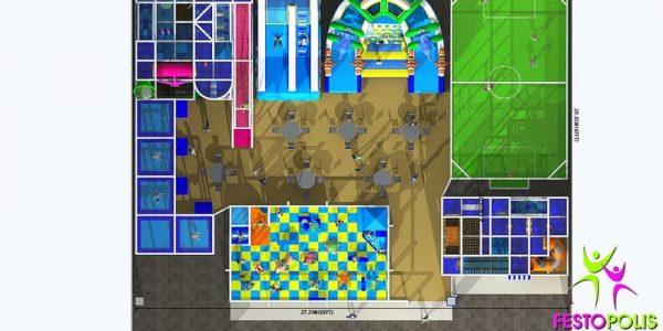 progettazione parco giochi al coperto blu park 10