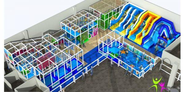 progettazione parco giochi al coperto pegasolandia 01
