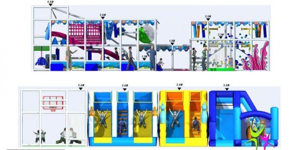 progettazione parco giochi al coperto pegasolandia 07