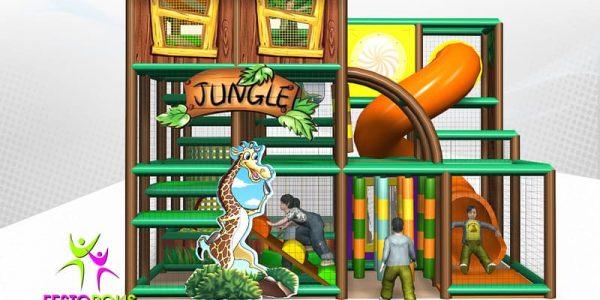 progettazione parco giochi coperto hakunamatata 01