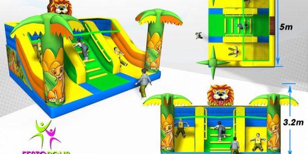 progettazione parco giochi coperto hakunamatata 04