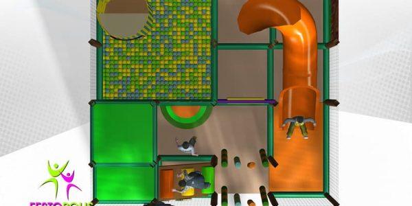 progettazione parco giochi coperto hakunamatata 05