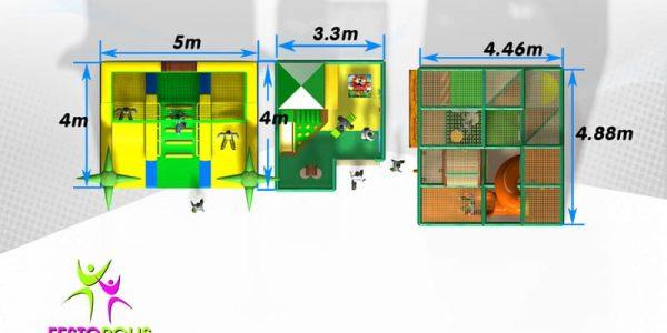 progettazione parco giochi coperto hakunamatata 08