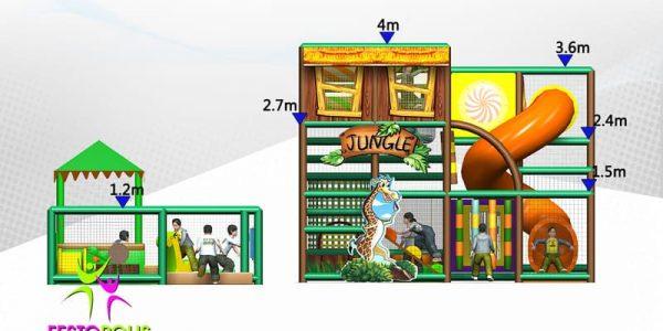 progettazione parco giochi coperto hakunamatata 09